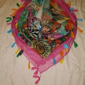 Colorful Scarf with Tassles